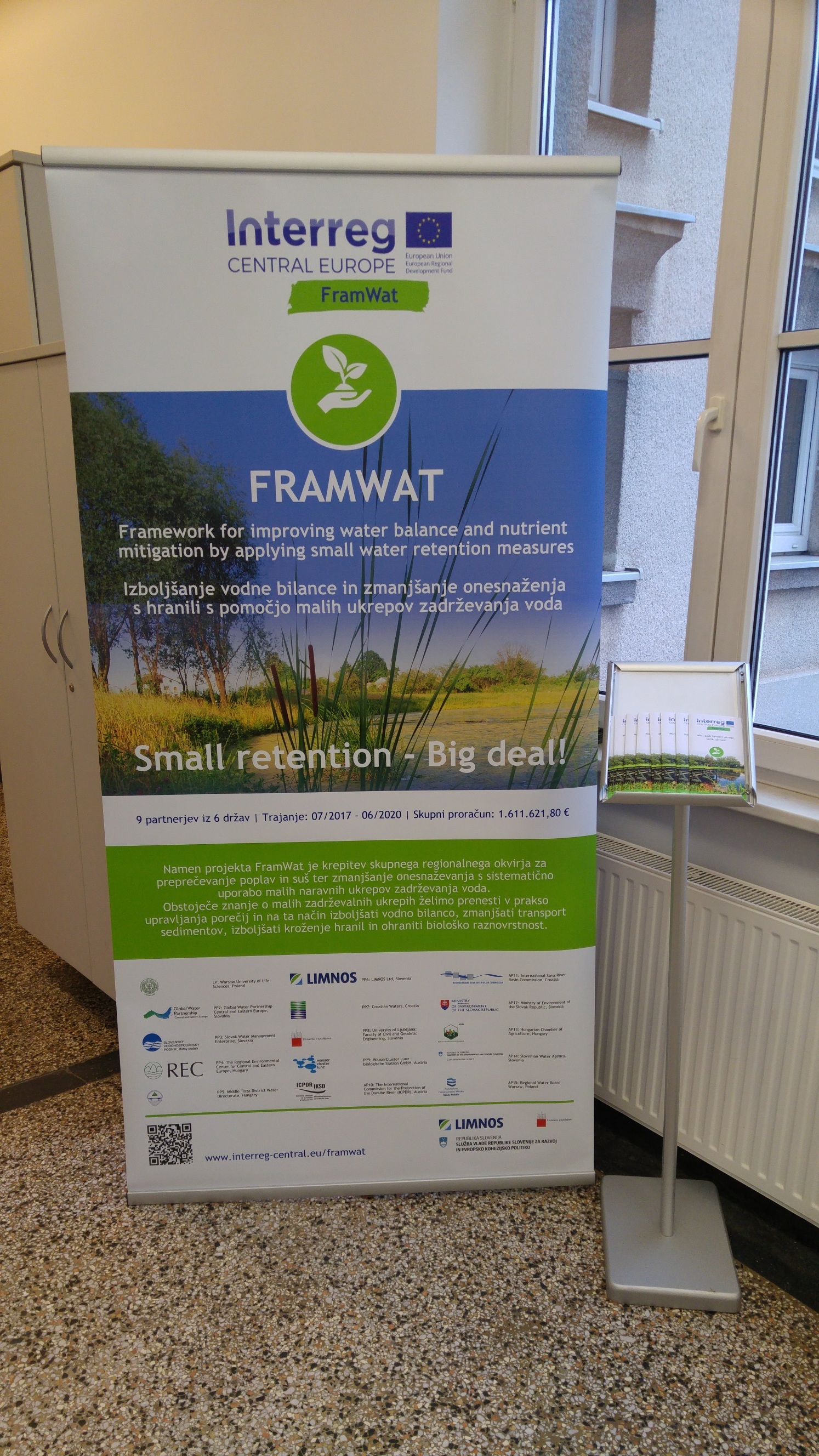 Presenting FramWat during Goljevšček Memorial Day - Interreg