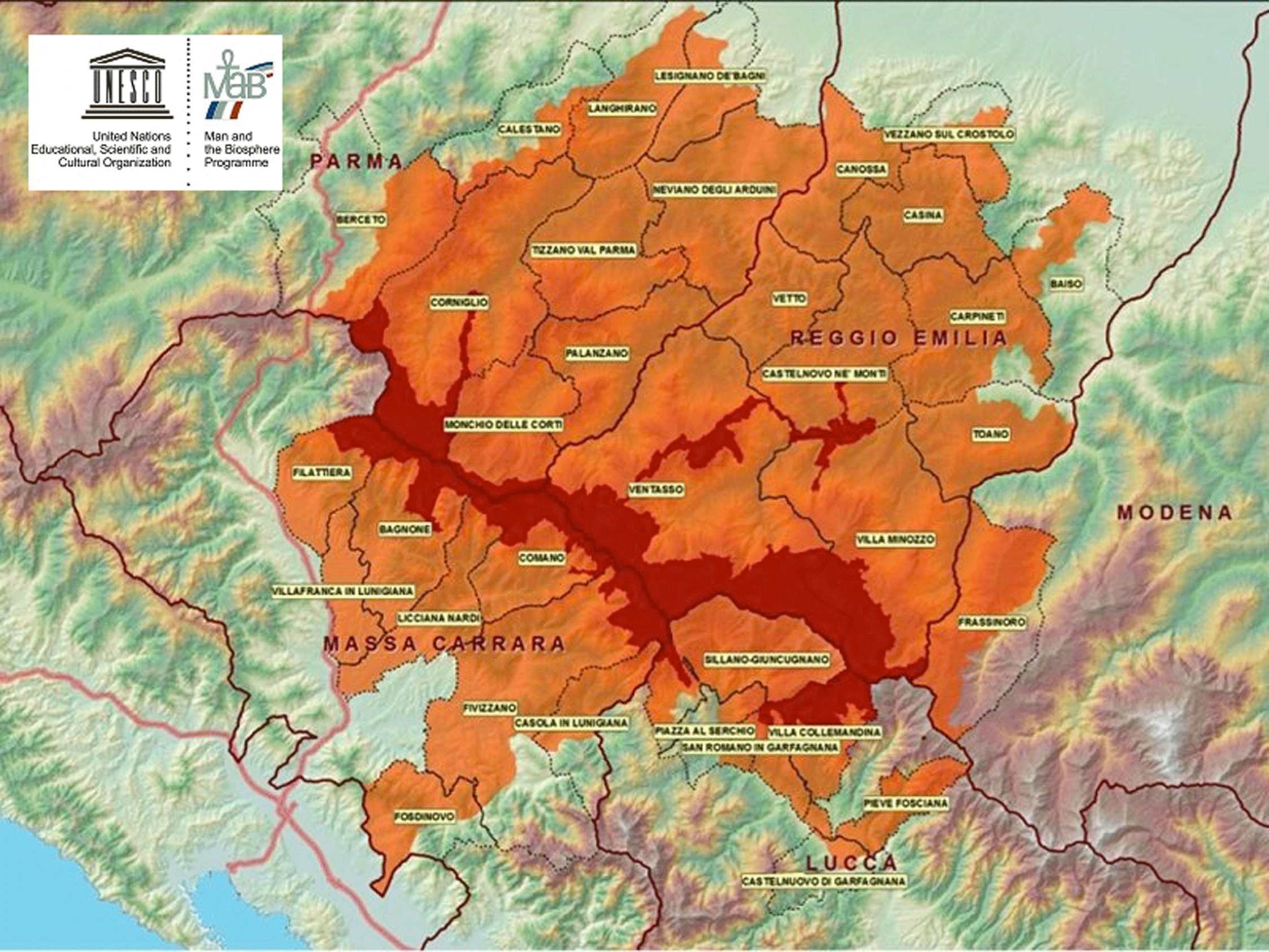 The enlargement to the Modena Apennines of the MaB Unesco Reserve