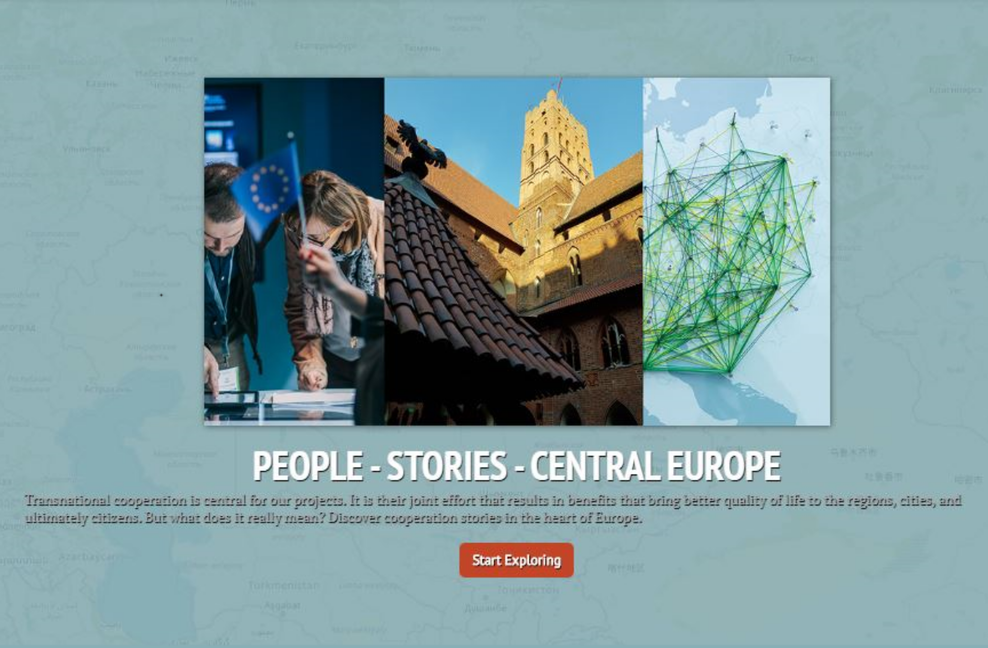 Story map Interreg CE