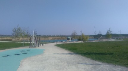 Recreation area at the edge of Aspern