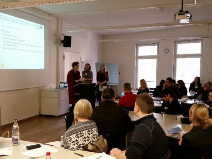 ARTISTIC research team - Prof. Dr. Gertraud Koch, Dr. Anna Stoffregen and Julia Rausch from University of Hamburg