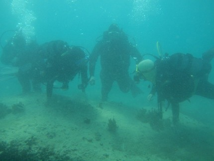 Surveying underwater by the International Centre for Underwater Archaeology, Zadar
