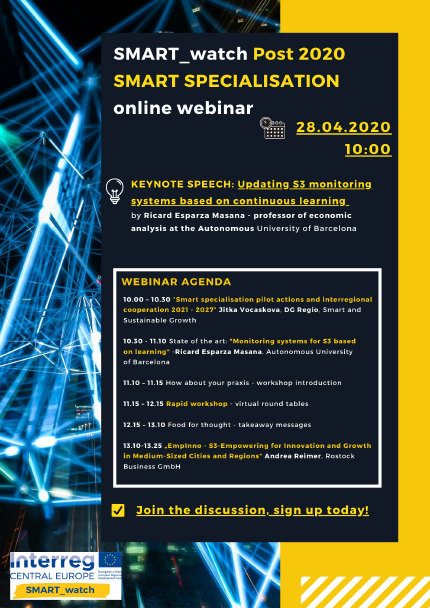 SMART_watch Post 2020 Smart Specialisation online webinar