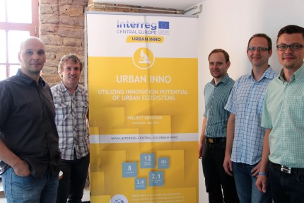 CyberForum representative Ralf Trunko with Hartberg/Pinkafeld core team members