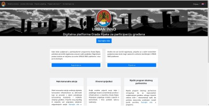 Citizen Collaboration Platform frontpage