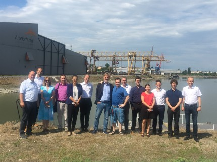 group photo in Budapest Freeport