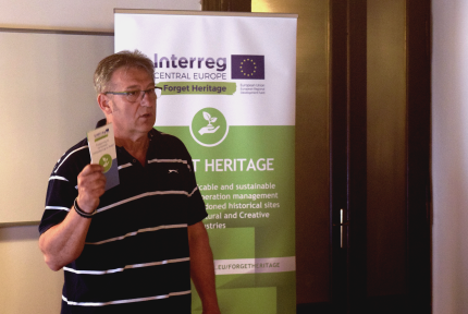 Janos Keresnyei Communication manager of the Forget Heritage