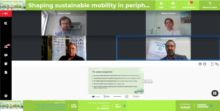 Screenshot showing all four webinar presenters