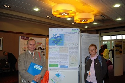 The poster GeoPLASMA–CE: a new international project in support of development of the shallow geothermal Energy in Poland and Central Europe presented by dr Wiesław Kozdrój and dr Małgorzata Ziółkowska-Kozdrój