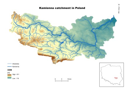Map of the pilot catchment