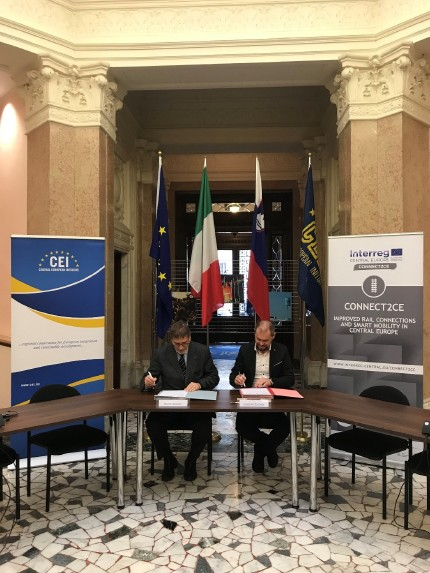 New intermodal service bus/train from Trieste to Lubiana agreement