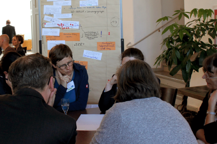 Group discussion during the ECST sustainable destinations evaluation workshop