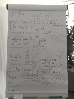 Flip chart from kick-off meeting