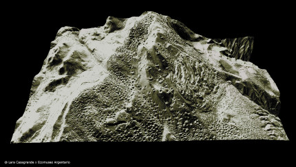 LiDAR scan of area with visible mining relicts (picture: L. Casagrande/Ecomuseo Argentario)