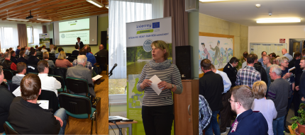 Impressions from the public event (photo credit: Alfred Olfert, Leibniz Institute of Ecological Urban and Regional Development)